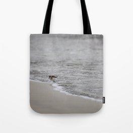 Lonely Sandpiper Tote Bag