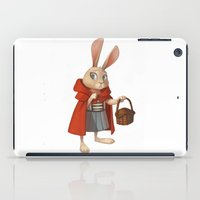 red riding hood iPad Cases featuring Little Red Riding Hood by Alyssa Tallent
