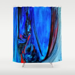 All Too Blue Shower Curtain