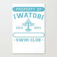 iwatobi Canvas Prints featuring Free! Iwatobi Swim Club - Athletic  by Cup of June