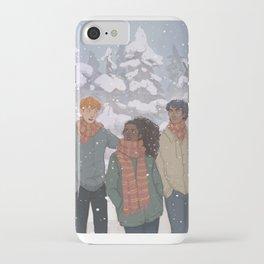 Golden Trio iPhone Case