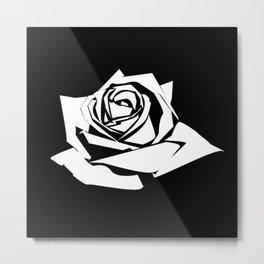Rose Stencil Metal Print