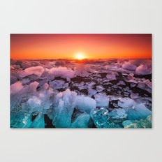 Ice of Antarctica's Sunset Canvas Print