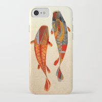 collage iPhone & iPod Cases featuring Kolors Koi by Fernando Vieira