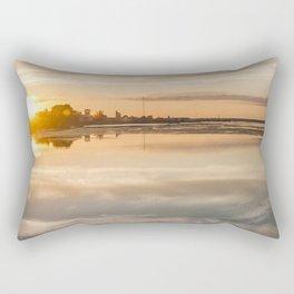 Baltic sea and sunset Rectangular Pillow