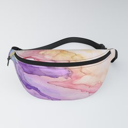 Color My World Watercolor Abstract Painting Fanny Pack