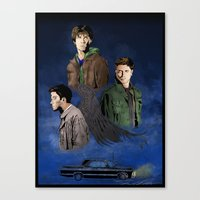 supernatural Canvas Prints featuring Supernatural by FALema