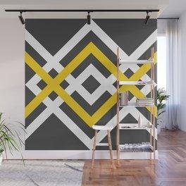 geometria grey yellow Wall Mural
