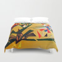 oakland Duvet Covers featuring Oakland Wall Flower by Oakland.Style