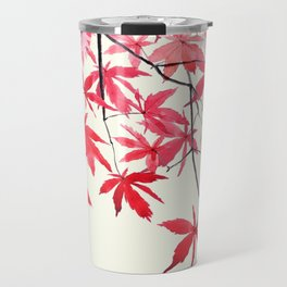 red maple leaves watercolor painting Travel Mug