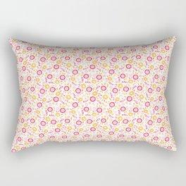 Autumn Floral - yellow, red, white Rectangular Pillow