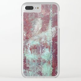 Background. Grunge and rusty metal surface Clear iPhone Case