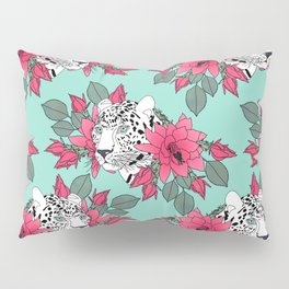 Stylish leopard and cactus flower pattern Pillow Sham