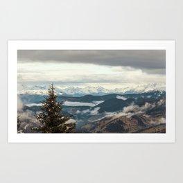 Panorama in Alta Badia, Alto Adige, Italian Alps Art Print