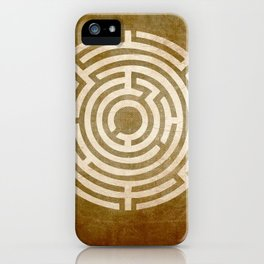 Solving Mazes Gold iPhone Case