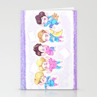shinee Stationery Cards featuring SHINee Sleepover by sophillustration