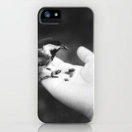 Bird Hand (Black and White) iPhone Case