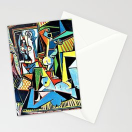 12,000pixel-500dpi - Pablo Picasso - Women of Algiers - Digital Remastered Edition Stationery Cards