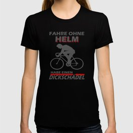 Bicyclist Fat Skull Bike Saying T-shirt