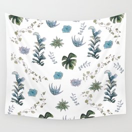 Indoor plant pattern Wall Tapestry