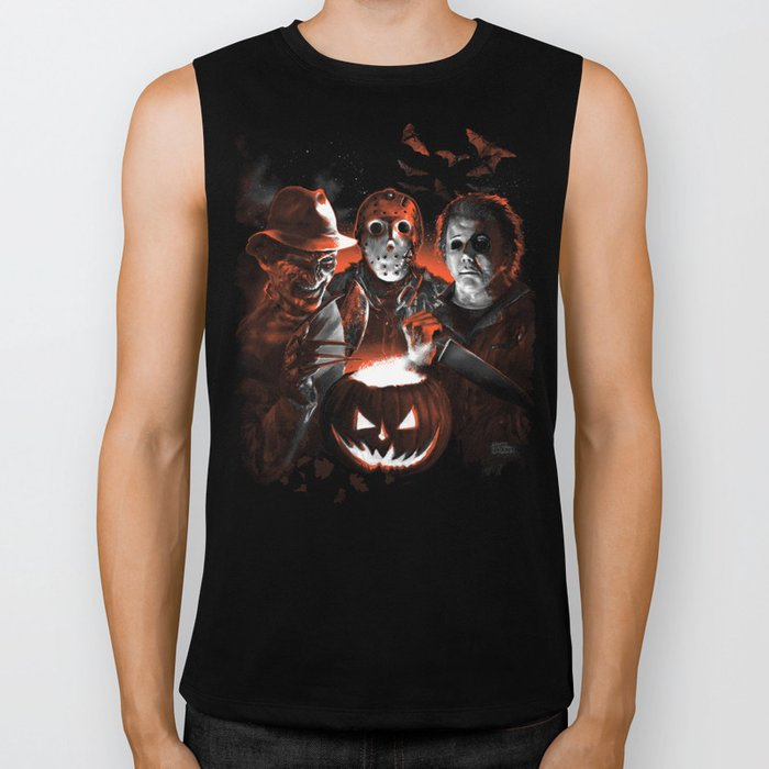 Freddy Krueger Jason Voorhees Michael Myers Super Villians Holiday Biker Tank