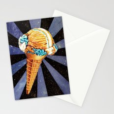 Space Ice Cream Stationery Cards