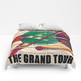 NASA Visions of the Future - The Grand Tour, a Once in a Lifetime Getaway Comforters