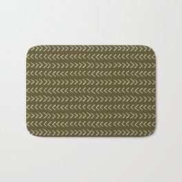 Arrows on Bronze-Olive Bath Mat