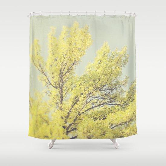 Yellow Tree Shower Curtain