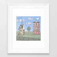 modest mouse Framed Art Prints featuring Modest Mouse - Building Nothing Out of Something by NICEALB