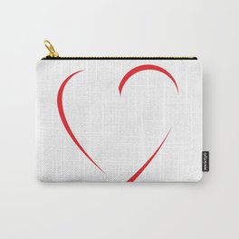 Rotated Heart Carry-All Pouch