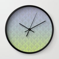 hologram Wall Clocks featuring Hologram Scales by michiko_design