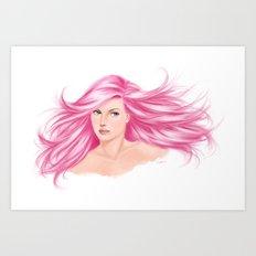 pink cotton candy Art Print