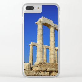 Temple of Poseidon in Sounion near Athens (Greece) Clear iPhone Case
