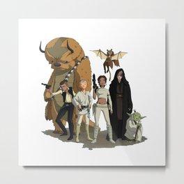 Avatar The Last Jedi Metal Print