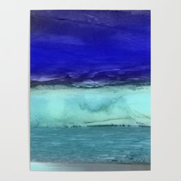 Midnight Waves Seascape Poster