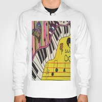 piano Hoodies featuring Piano by Sydsart1259