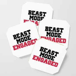 Beast Mode Engaged Gym Quote Coaster