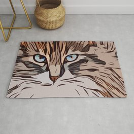 The Tranquil Cat  Rug