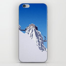 Chamonix ski iPhone Skin