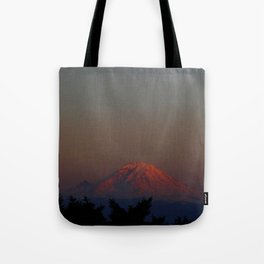 Mount Rainier Moon Rise Tote Bag
