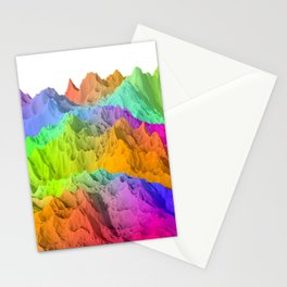 Holopunk Mountains Stationery Cards