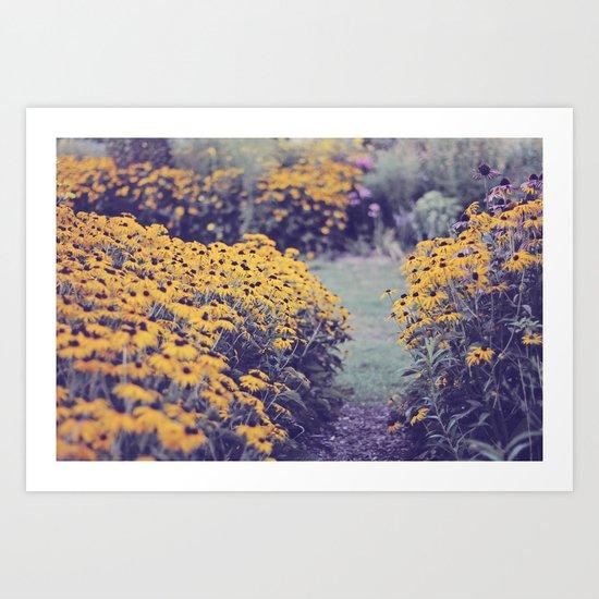 My summer garden Art Print