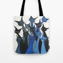 Escondido Whimsical Cats Tote Bag