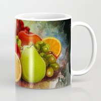 fruits Mugs featuring fruits by ErsanYagiz