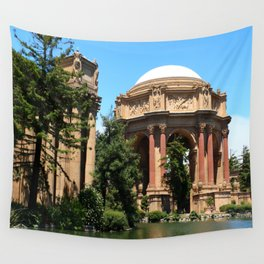 View Over The Lagoone To The Palace Of Fine Arts - San Francisco Wall Tapestry