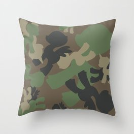 Brony Military Woodland Pattern Throw Pillow