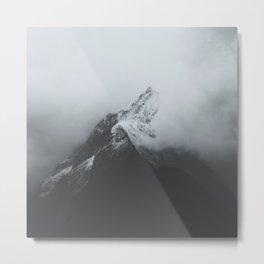 Milford Sound (Black + White) Metal Print