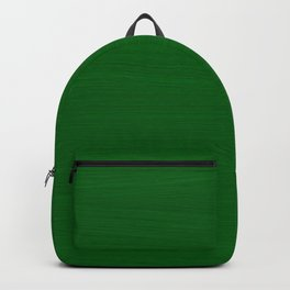 Emerald Green Brush Texture - Solid Color Backpack