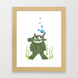 frogmen Framed Art Print